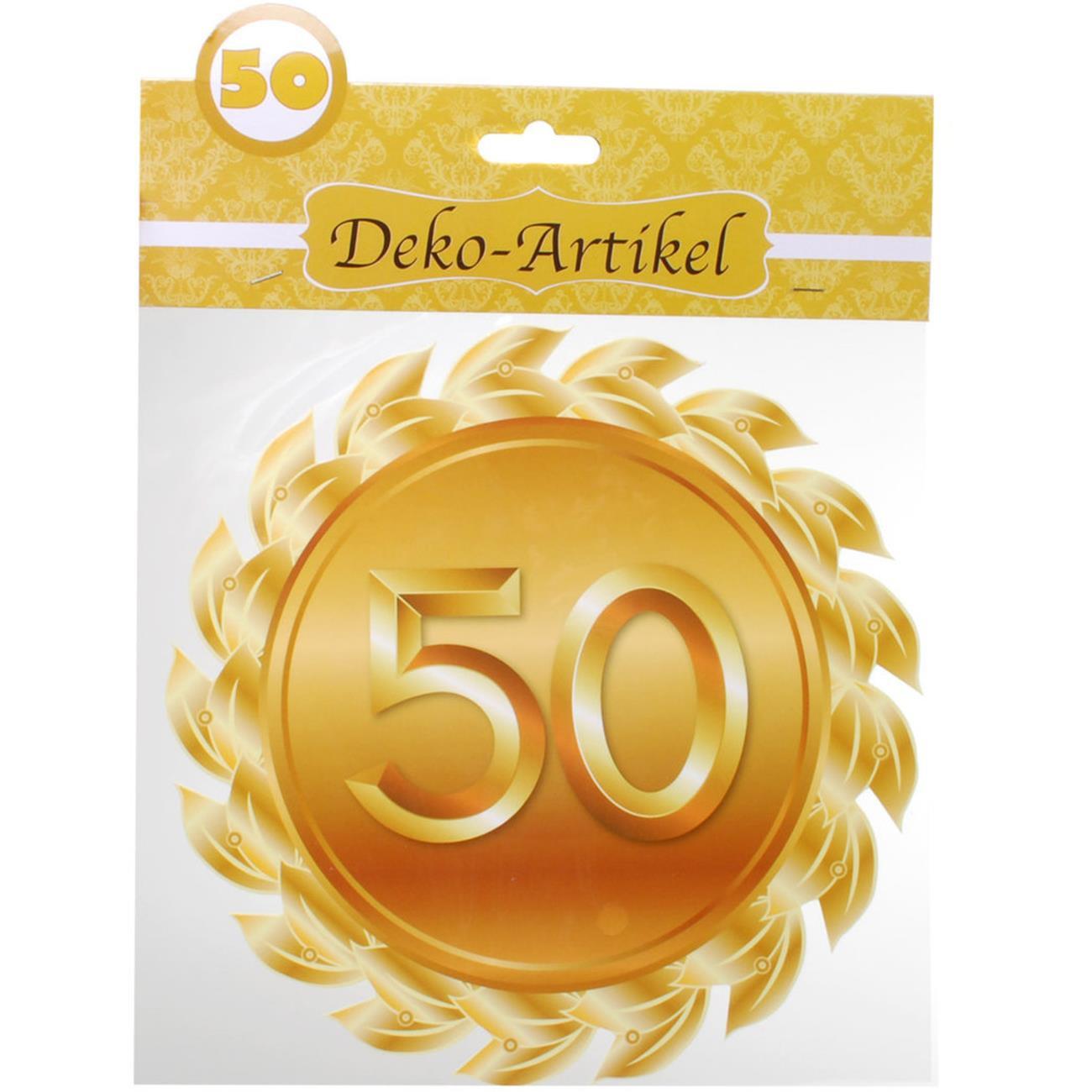 Deko Goldene Hochzeit  Tür und Wandschmuck Deko Schild für Goldene Hochzeit