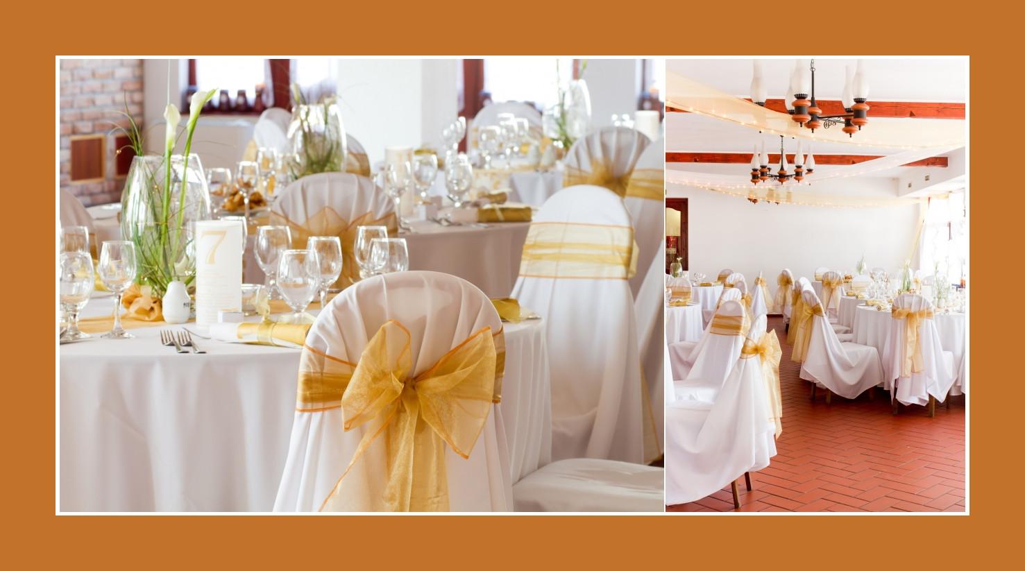 Deko Goldene Hochzeit  Tischdeko Hochzeitsdeko