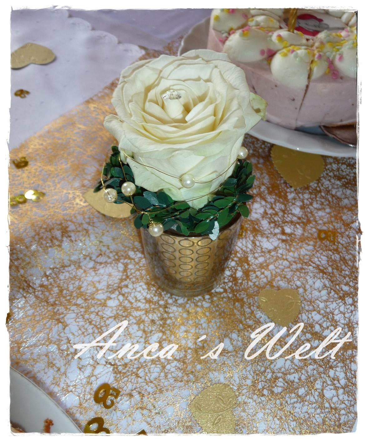 Deko Goldene Hochzeit  Anca´s Welt Goldene Hochzeit Karte Deko & Co