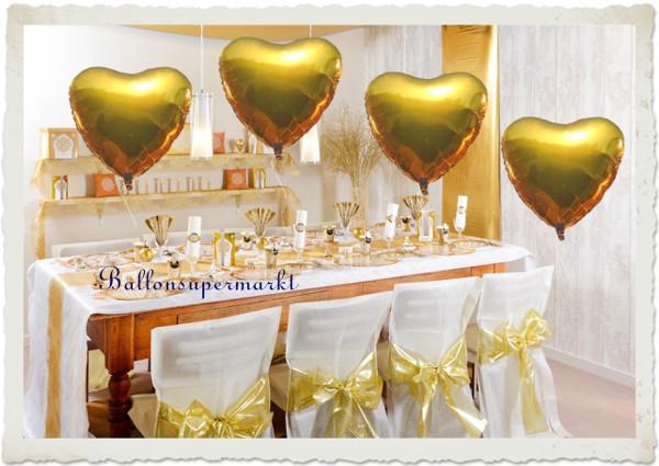 Deko Goldene Hochzeit  Goldene Hochzeit Dekoration Hochzeitsdeko zur