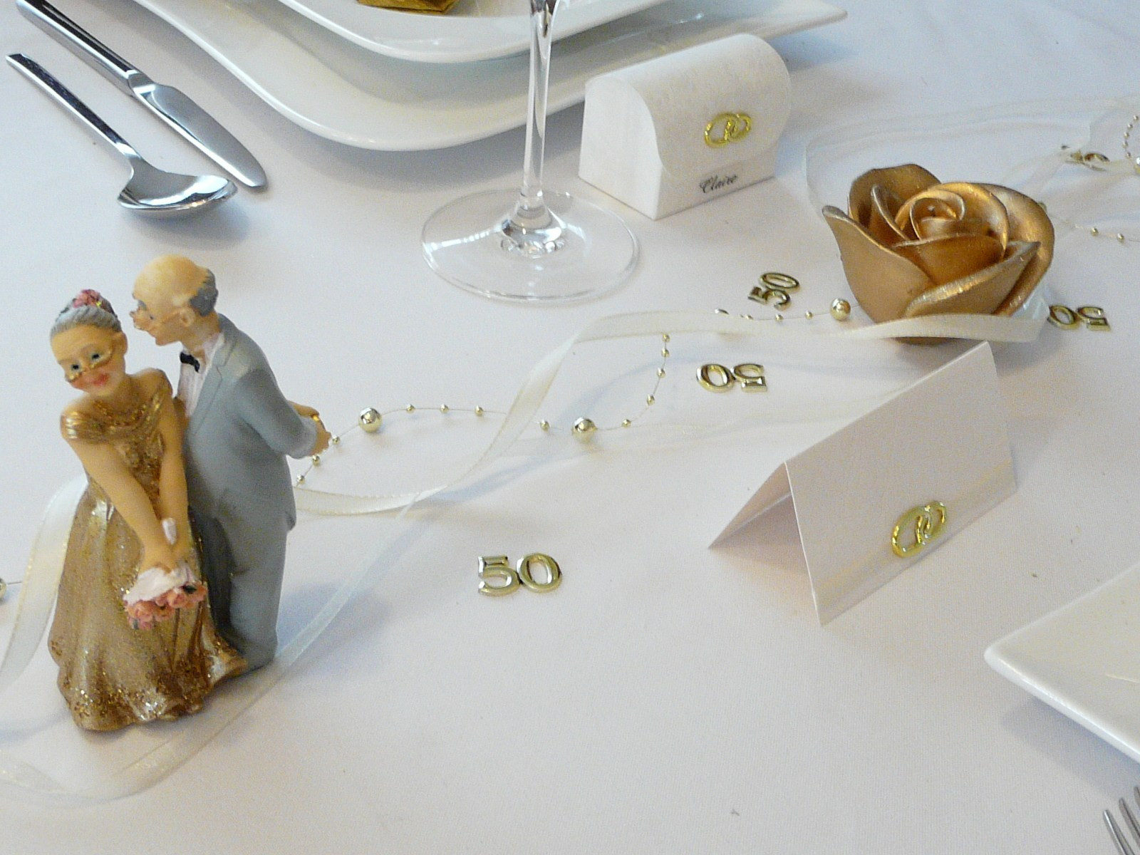 Deko Goldene Hochzeit  DEKO IDEEN ZUR GOLDENEN HOCHZEIT Maison Bois Nauc