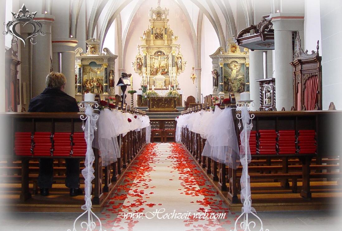 Deko Hochzeit Kirche  Kirchendekoration oder Hochzeitsdekoration Kirchendeko