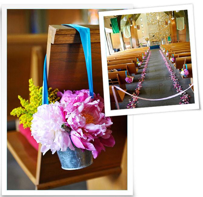 Deko Hochzeit Kirche  Dekoration der Kirche Blumen in Zinktöpfchen Fräulein K