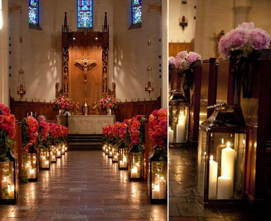 Deko Hochzeit Kirche  05 kerzen hochzeitsdeko dekoideen kirchlich Altar heiraten