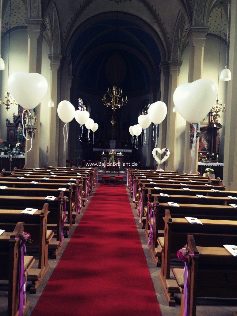 Deko Hochzeit Kirche  Kirchen Deko Hochzeit BallonBrilliant