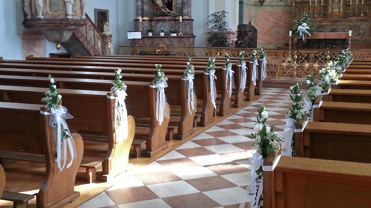 Deko Hochzeit Kirche  Kirchen Dekoration Blumen & Dekoration FrankenthalBlumen