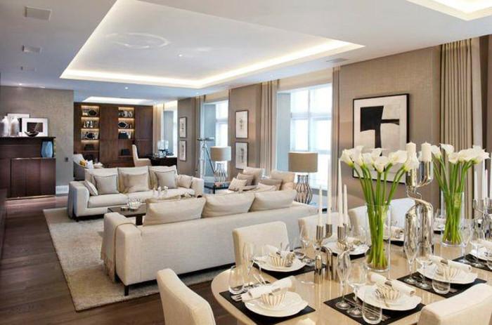 Dekoartikel Wohnzimmer  64 Beispiele für elegantes Wohnzimmer Archzine