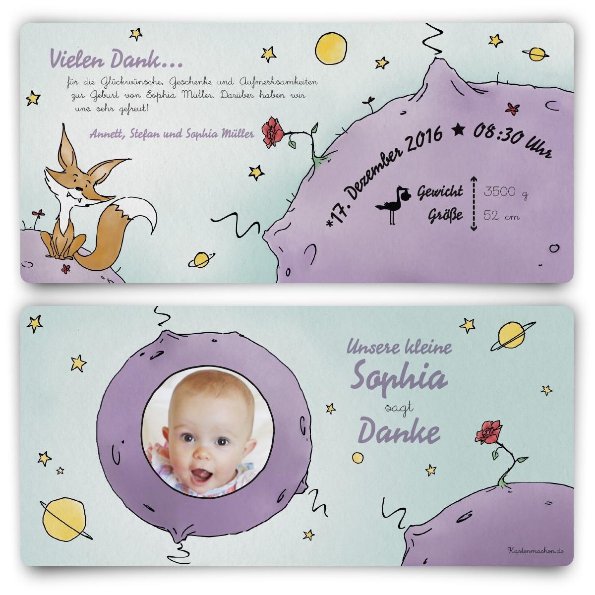 Der Kleine Prinz Hochzeit  Dankeskarten Geburtskarten Der kleine Prinz