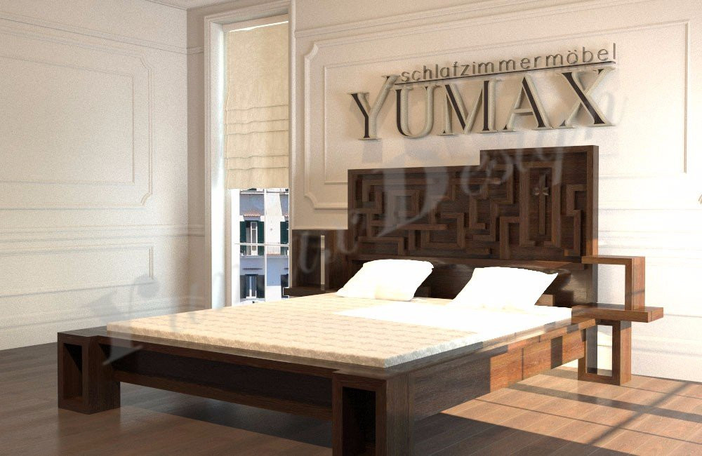 Designer Betten  Design Bett Labyrinth Designerbetten aus Massivholz
