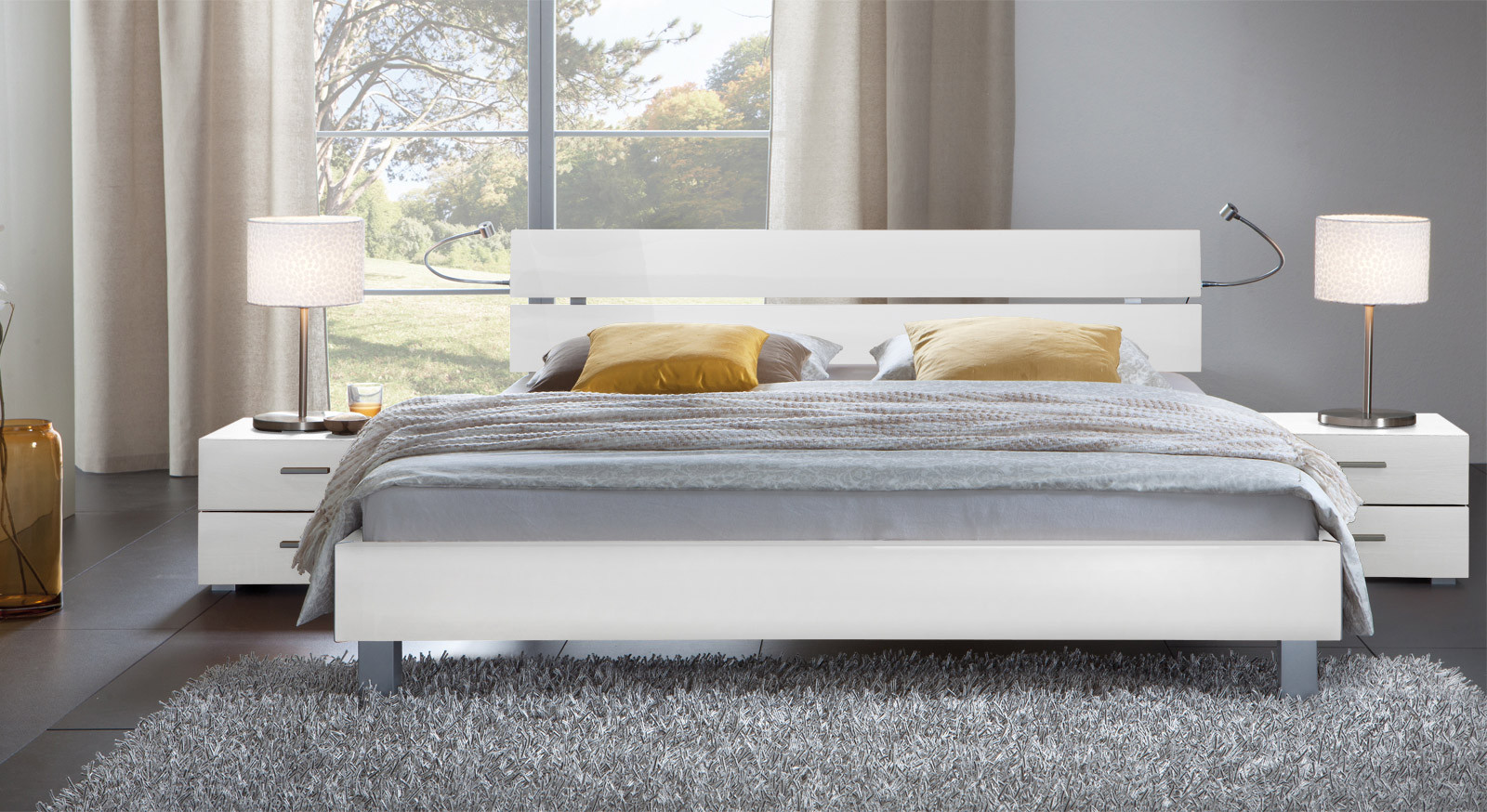Designer Betten  Tiefes Designer Bett online günstig kaufen Treviso