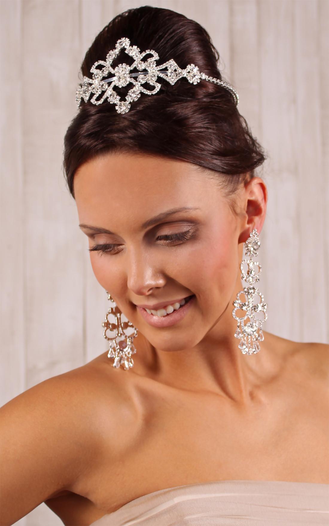 Diadem Hochzeit  Kleiderfreuden Brautmode online bestellen Großes Braut