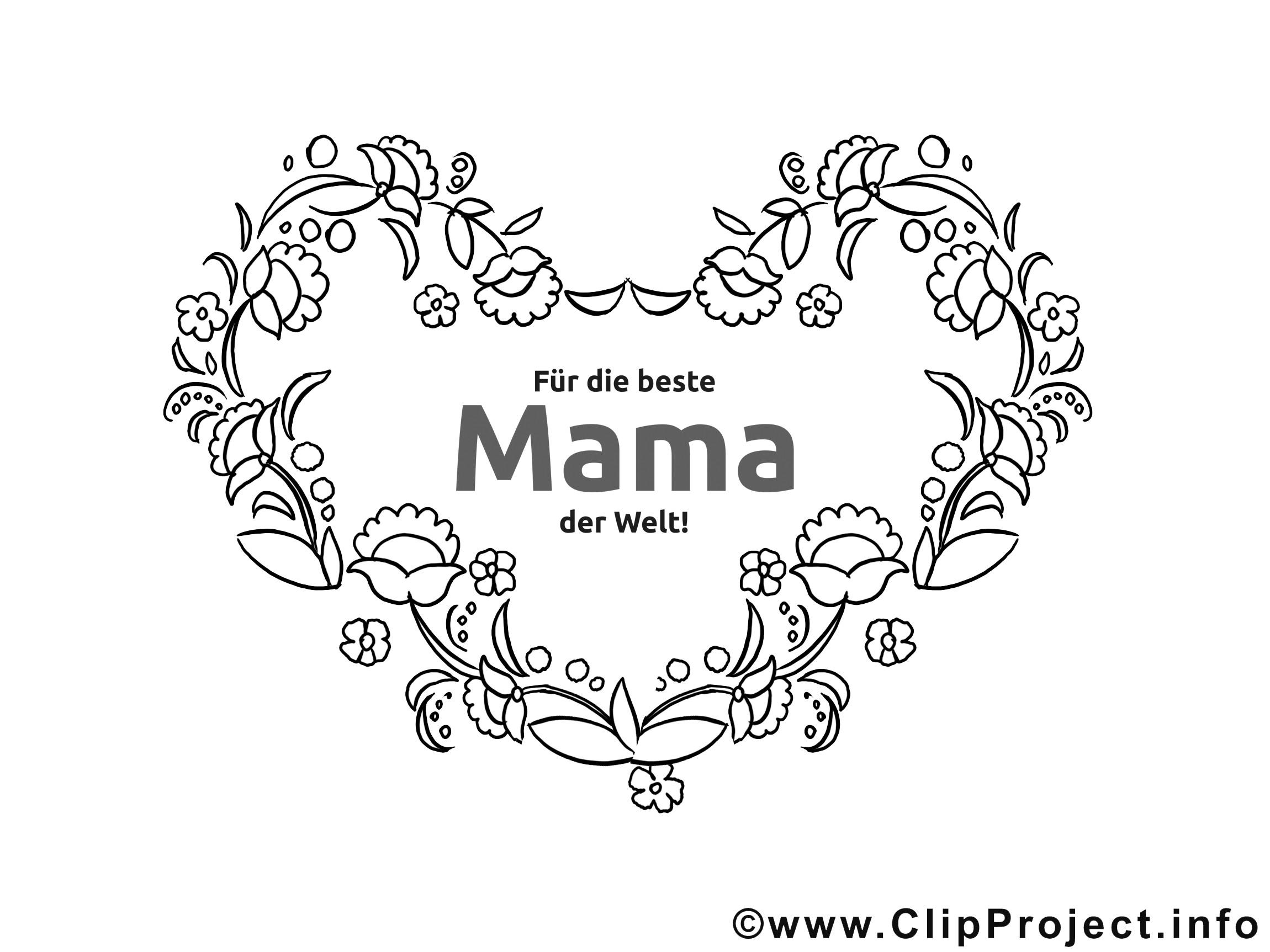 Die Schönsten Ausmalbilder Der Welt  Ranken Herz Für Mama Ausmalbilder Zum Muttertag