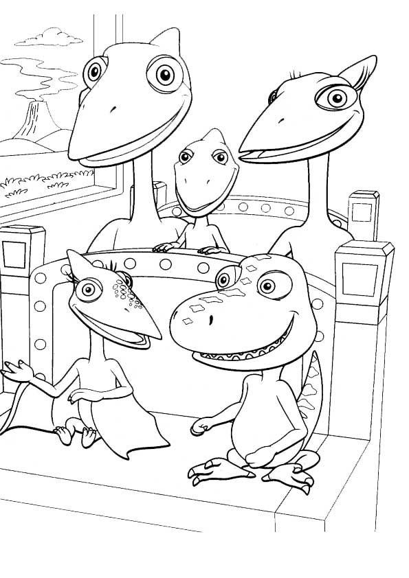 Dino Zug Ausmalbilder  Ausmalbilder Dino Zug 20