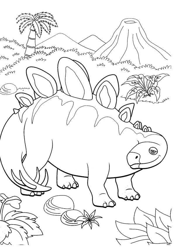 Dino Zug Ausmalbilder  Ausmalbilder Dino Zug 19