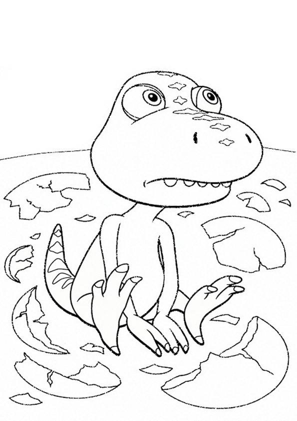 Dino Zug Ausmalbilder  Ausmalbilder Dino Zug 24