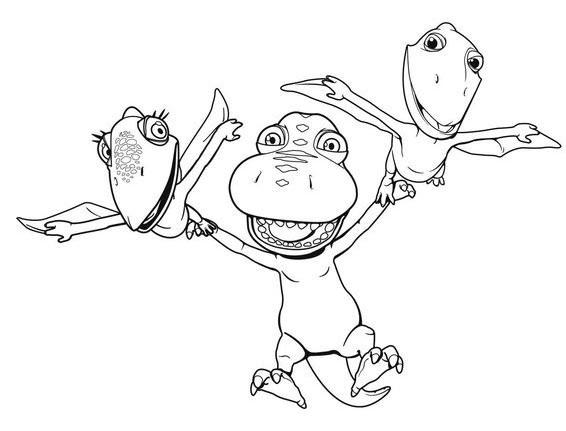 Dino Zug Ausmalbilder  Dino Zug – Spielzeug zum kleinen Dino mit den großen