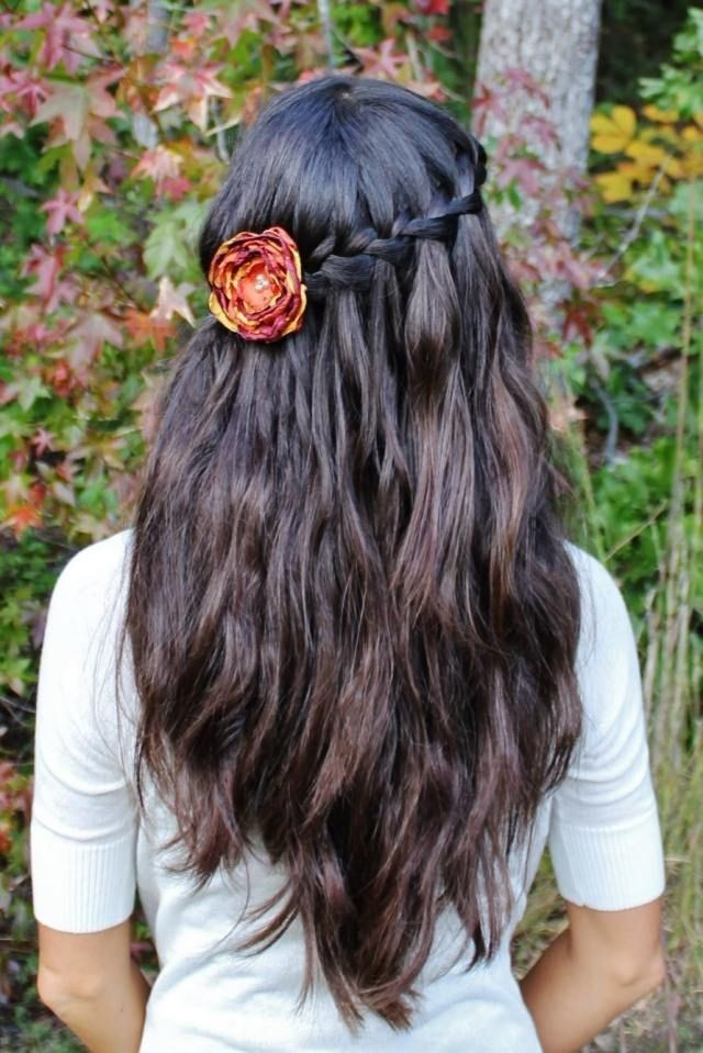 Dirndl Frisuren Offene Haare  dirndl frisur oktoberfest offene haare hinterkopf