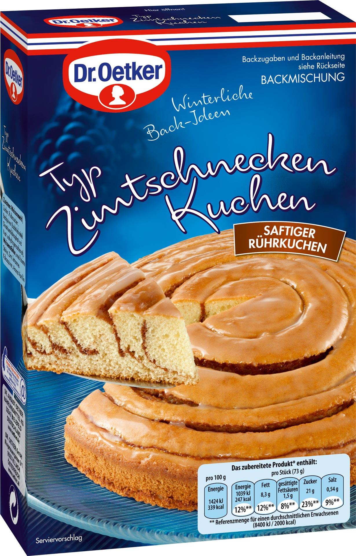 Dr Oetker Kuchen  Dr Oetker Zimtschnecken Kuchen Backmischung 535g