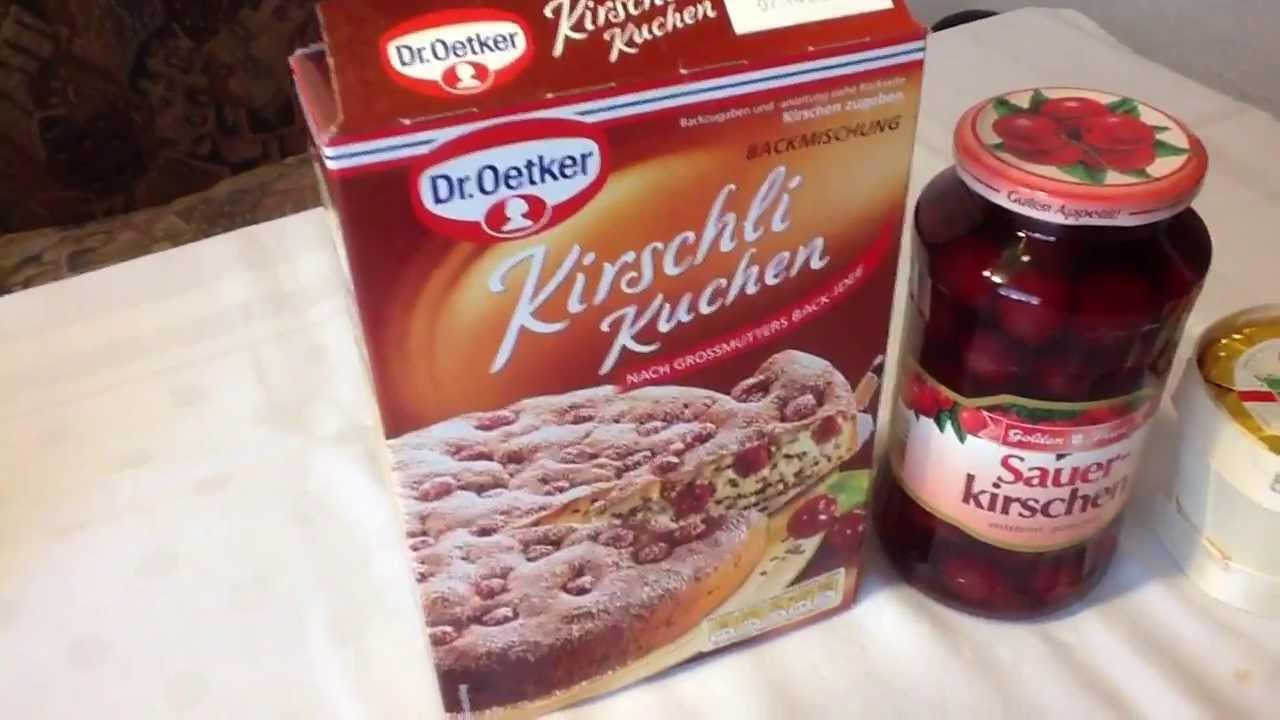 Dr Oetker Kuchen  Kirschli Kuchen von Dr Oetker Backmischung
