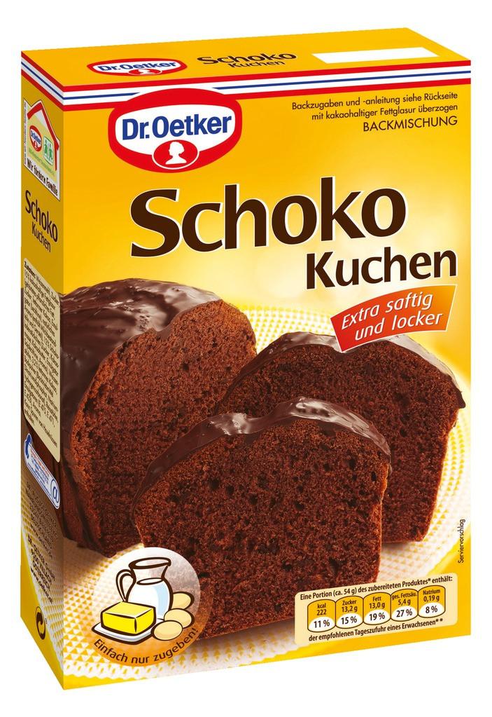 Dr Oetker Kuchen  Dr Oetker Schoko Kuchen 485g