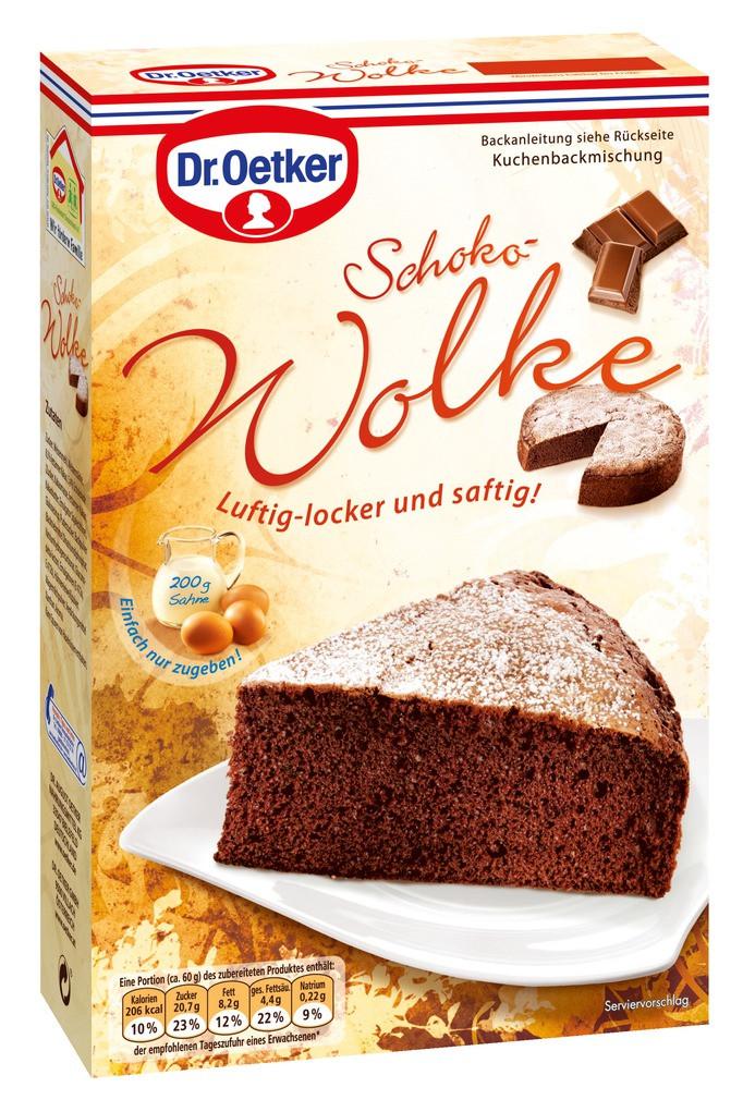 Dr Oetker Kuchen  Dr Oetker Kuchen Schoko Wolke 455g