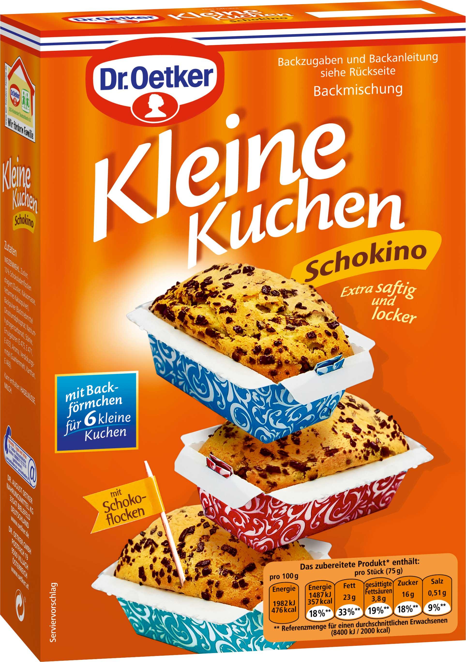 Dr Oetker Kuchen  Dr Oetker Kleine Kuchen Schokino Backmischung 245g