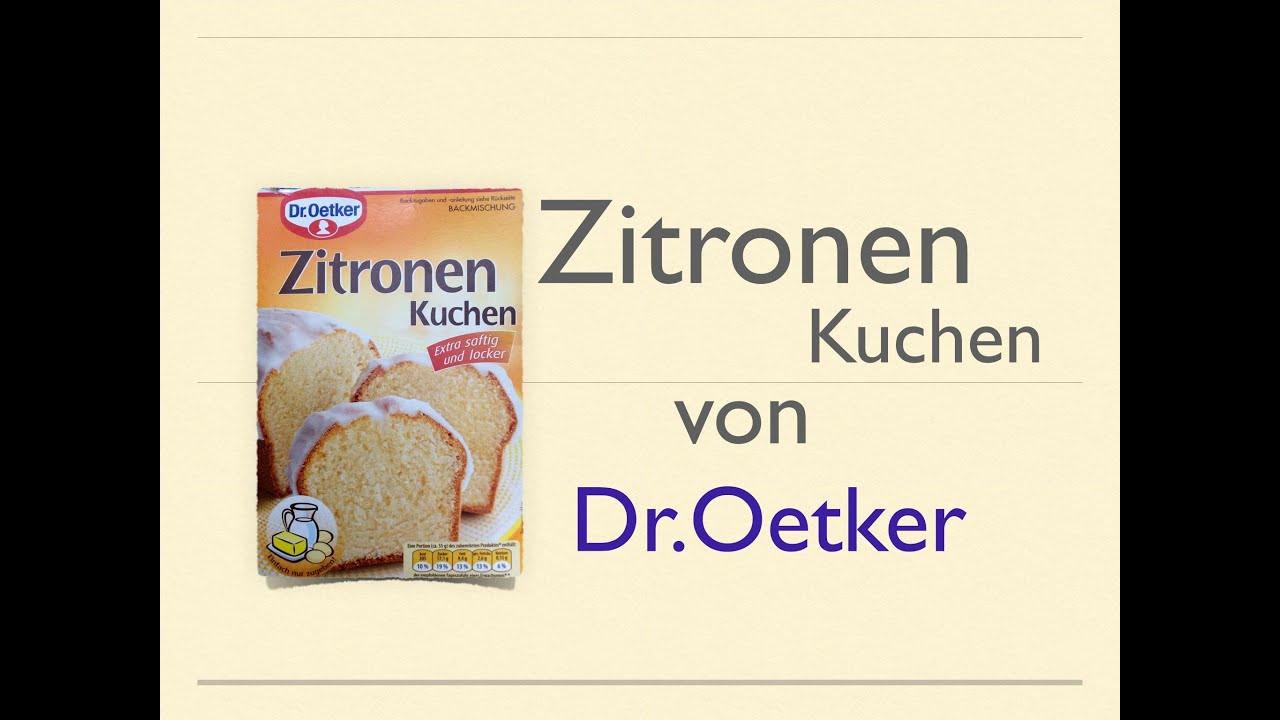 Dr Oetker Kuchen  Zitronen Kuchen von Dr Oetker Backmischung