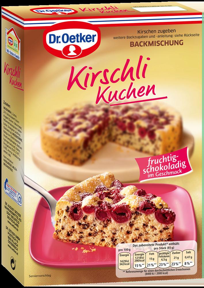 Dr Oetker Kuchen  Kirschli Kuchen Familienkuchen von Dr Oetker