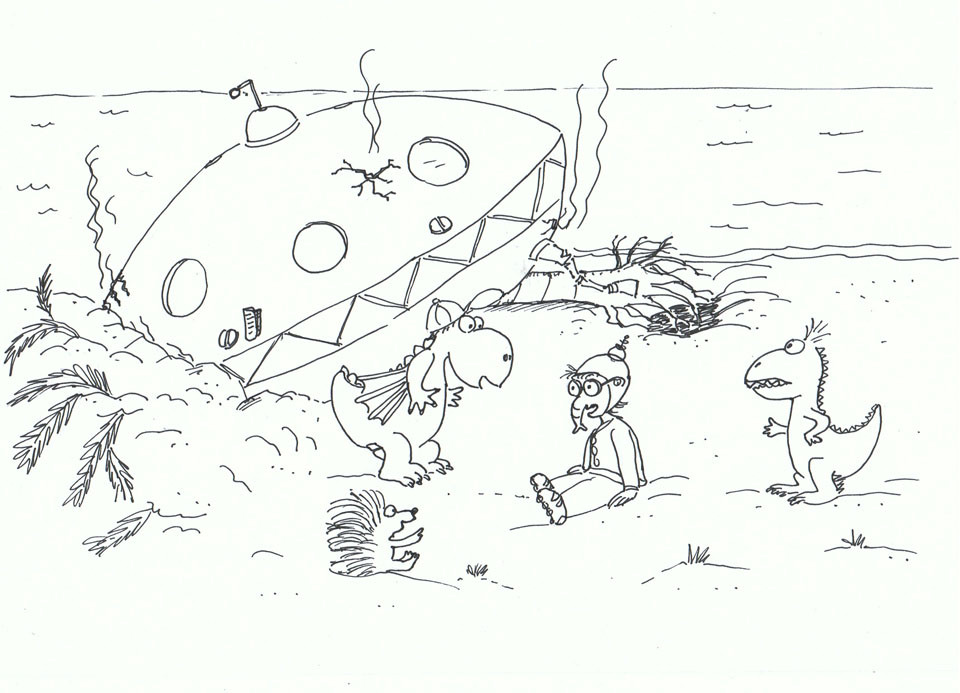 Drache Kokosnuss Ausmalbilder  Der kleine Drache Kokosnuss