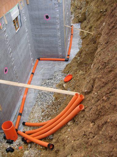 Drainage Haus  Regenwasser Drainage Verlegen regenwasser drainage