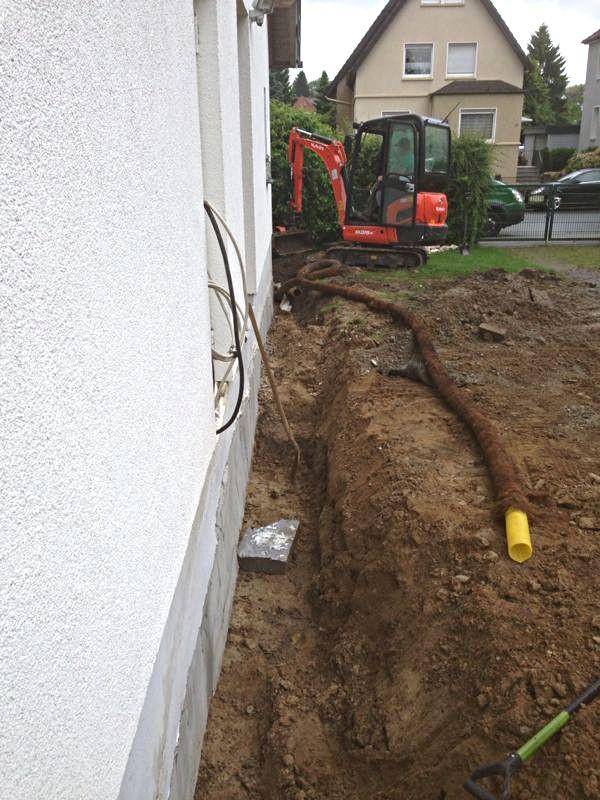 Drainage Haus  Fanselow Garten Landschaftsbau fuer Haus und Garten Herford
