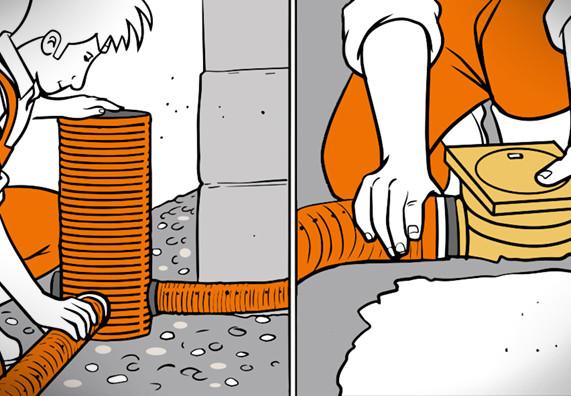 Drainage Haus  Drainage verlegen in 4 Schritten