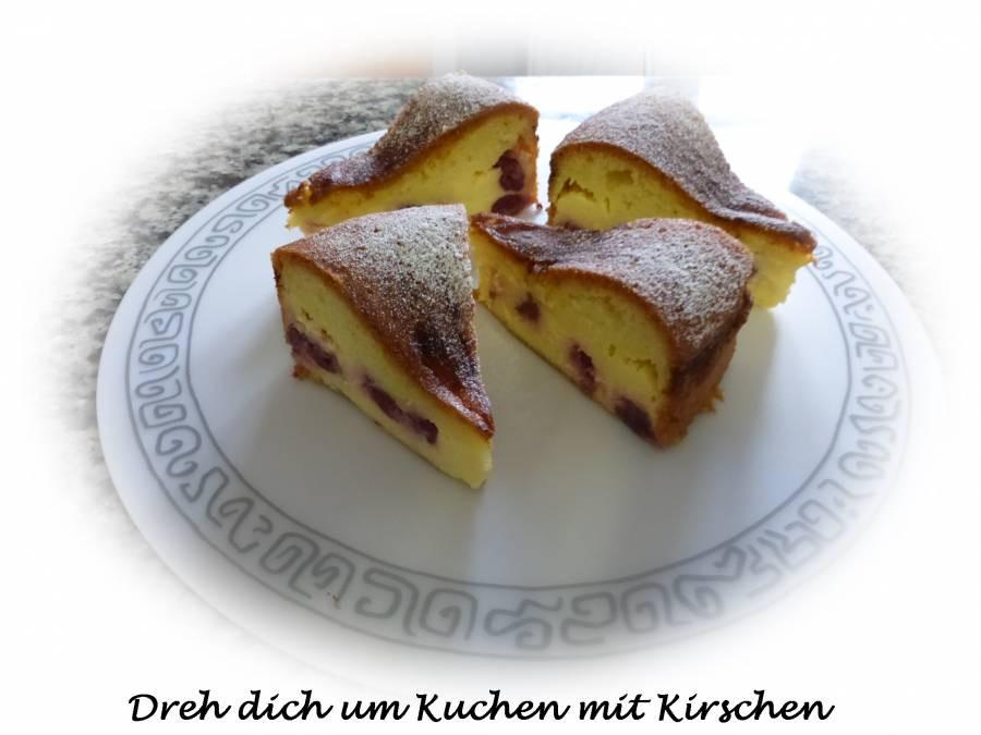Dreh Dich Um Kuchen  Dreh dich um Kuchen mit Kirschen