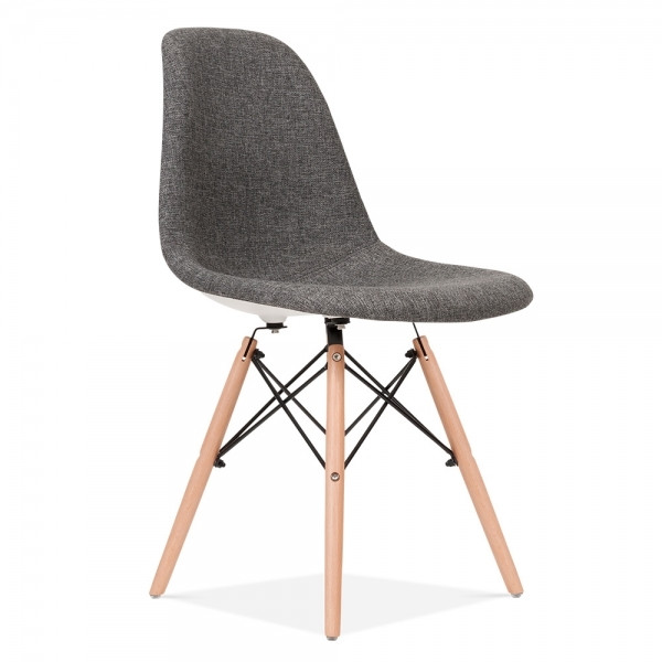 Dsw Stuhl  Eames Style Grau DSW Stuhl Gepolstert