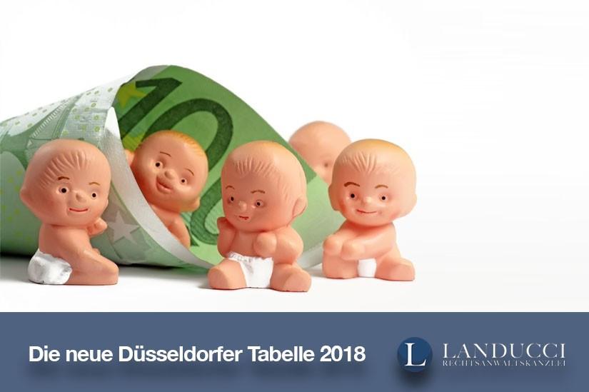 Düsseldorfer Tabelle 2018  Die neue Düsseldorfer Tabelle 2018 Unterhalt