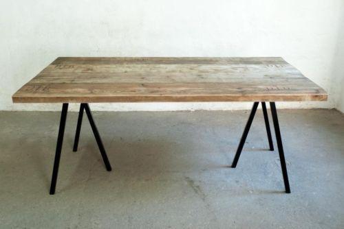 Ebay Kleinanzeigen Tisch  Up Cycle Tischplatte Bauholz Dielen 4 5 cm massiv in