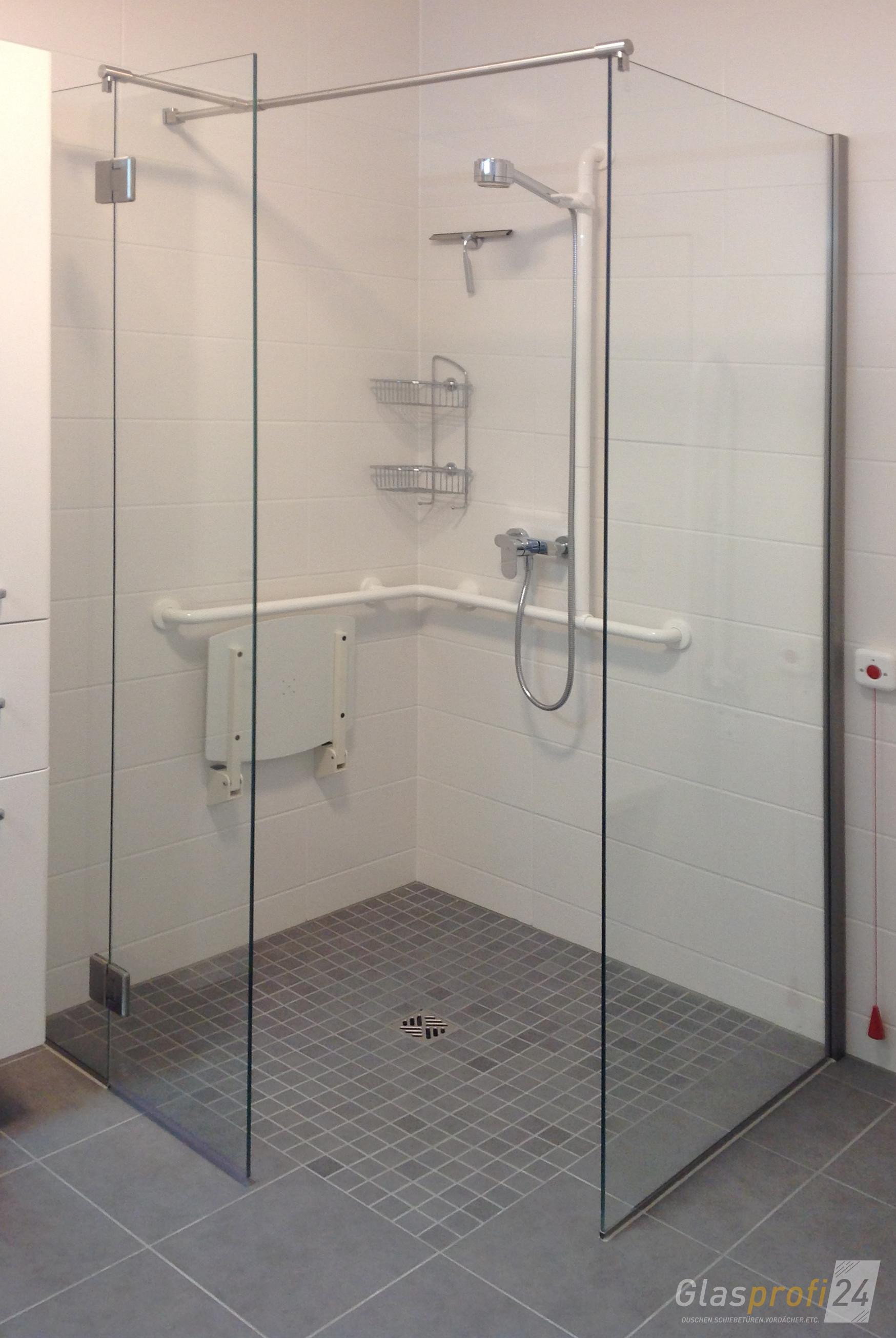 Ebenerdige Dusche  Ebenerdige Dusche bauen aus Glas