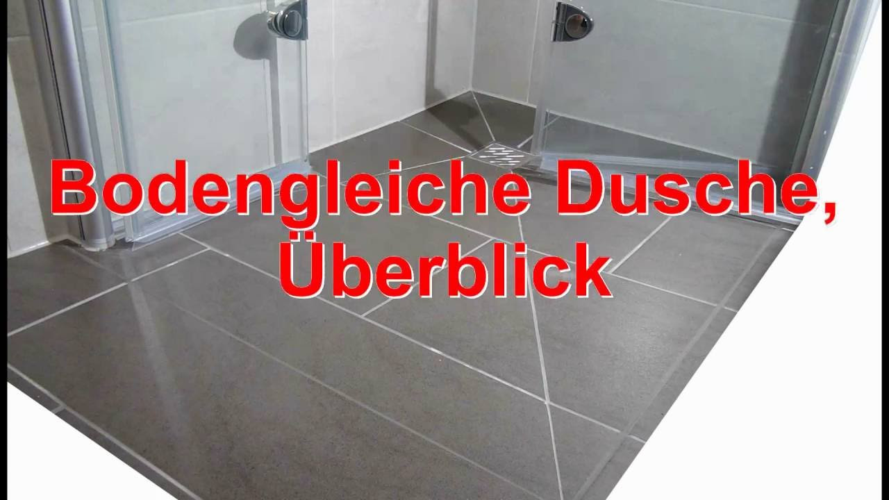 Ebenerdige Dusche  bodengleiche ebenerdige Dusche