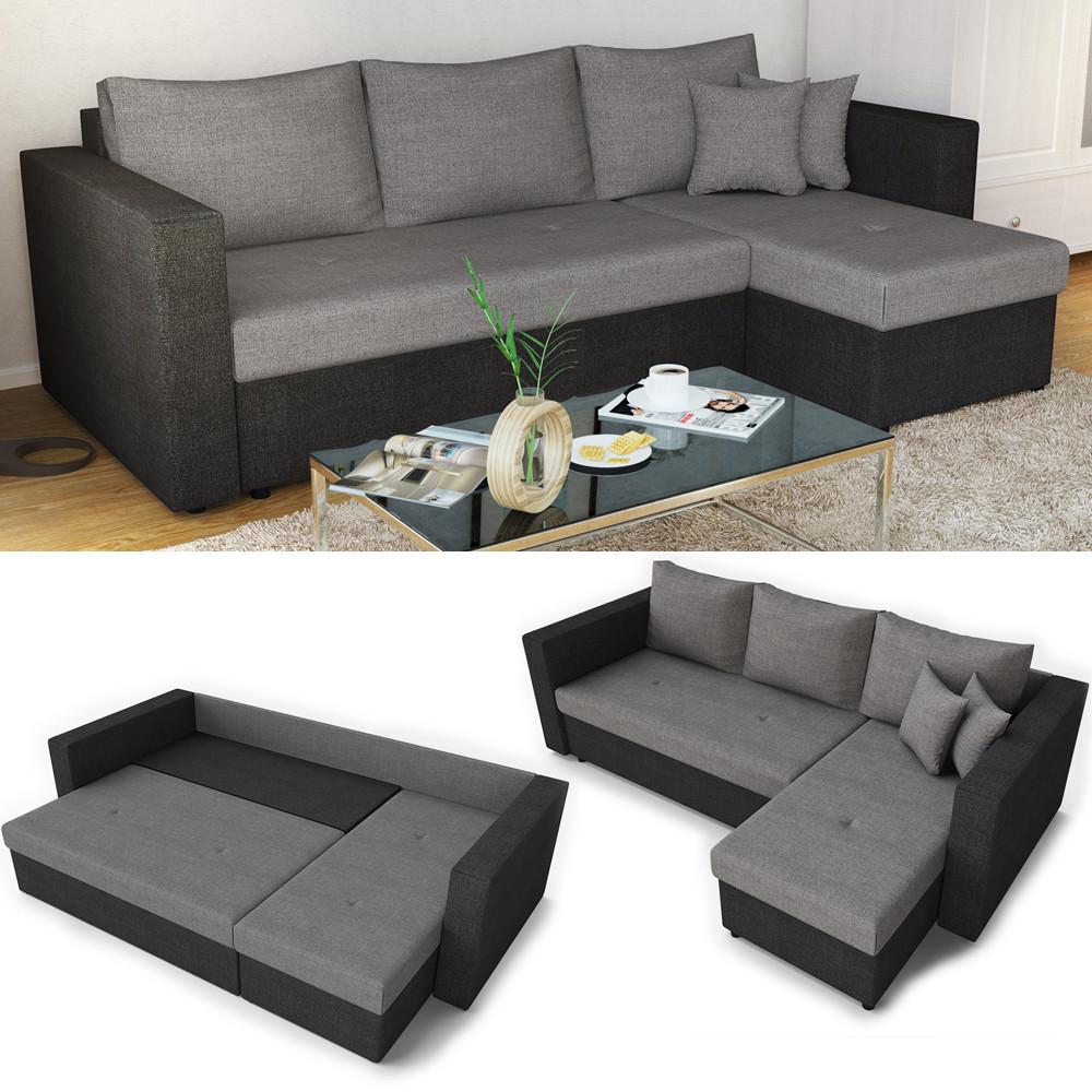 Ecksofa Mit Schlaffunktion  Ecksofa mit Schlaffunktion Sofa Couch Schlafsofa