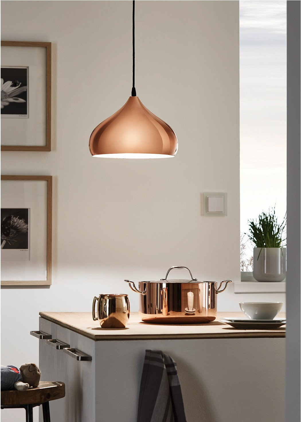 Eglo Lampen  Eglo Hapton 1 Light Copper