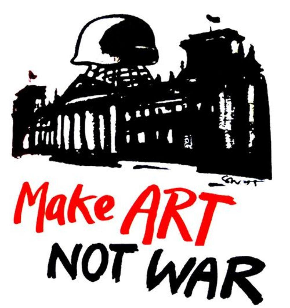 Eine Welt Haus München  Im Eine Welt Haus Ausstellung Kunst gegen den Krieg