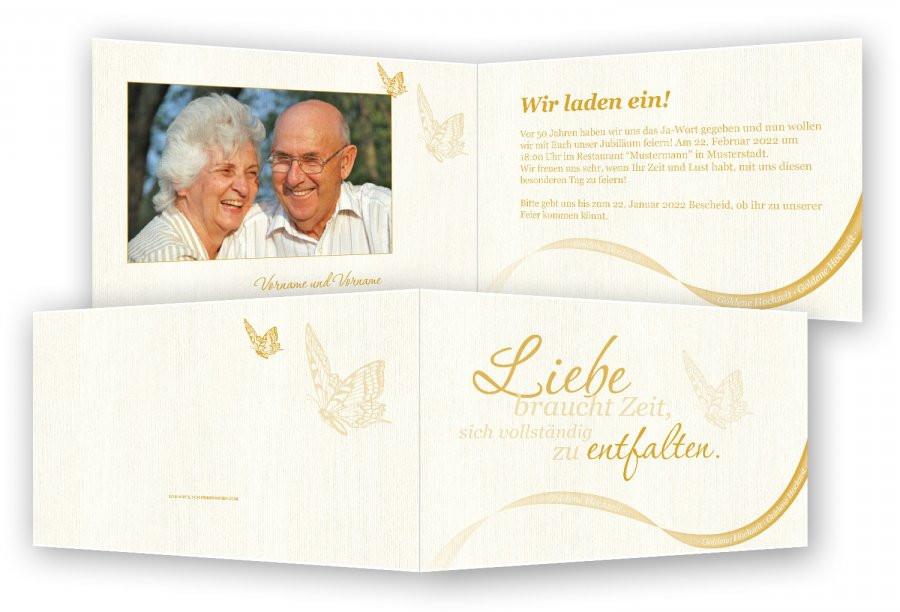 Einladung Goldene Hochzeit  Einladung Goldene Hochzeit Vorlage