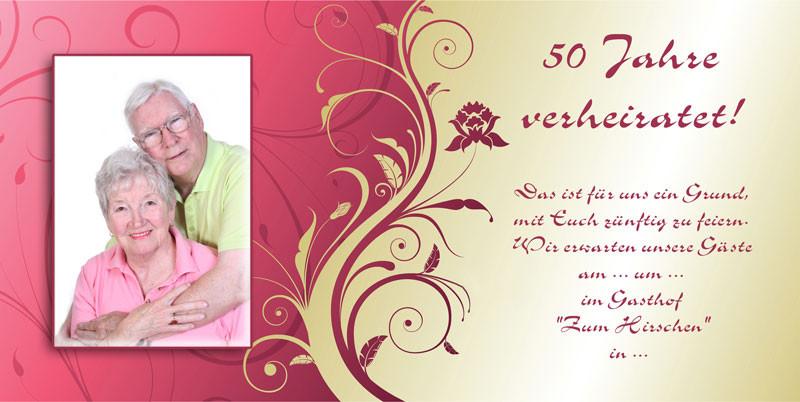 Einladung Goldene Hochzeit  Einladung & Einladungskarten Goldene Hochzeit