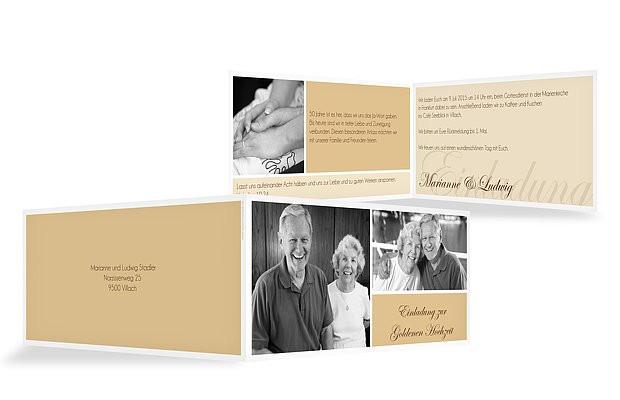 """Einladung Goldene Hochzeit  Einladung Goldene Hochzeit """"Fotowand"""""""