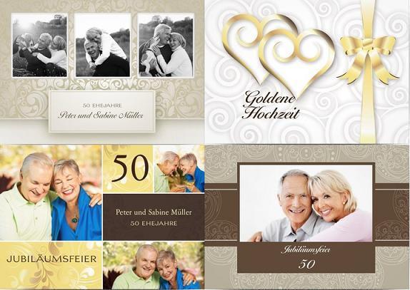 Einladung Goldene Hochzeit  Einladungstext Goldene Hochzeit