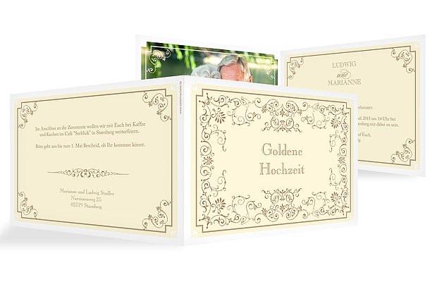 """Einladung Goldene Hochzeit  Einladung Goldene Hochzeit """"Eleganz"""""""