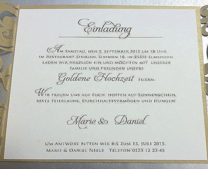 Einladung Goldene Hochzeit Vorlage Word  Einladung Goldene Hochzeit Vorlage Word Probe Einladung