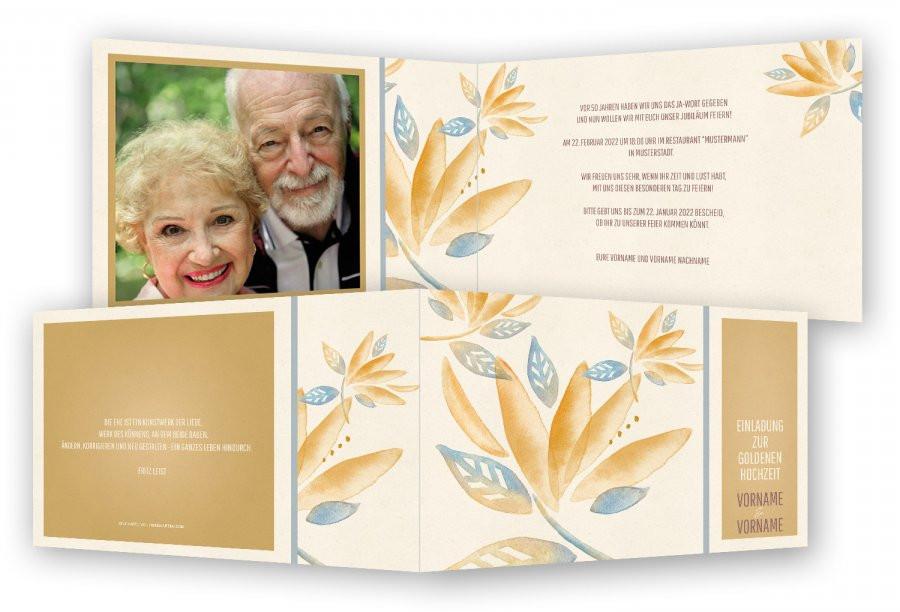 Einladung Goldene Hochzeit Vorlage Word  Goldene Hochzeit Einladungen Vorlage