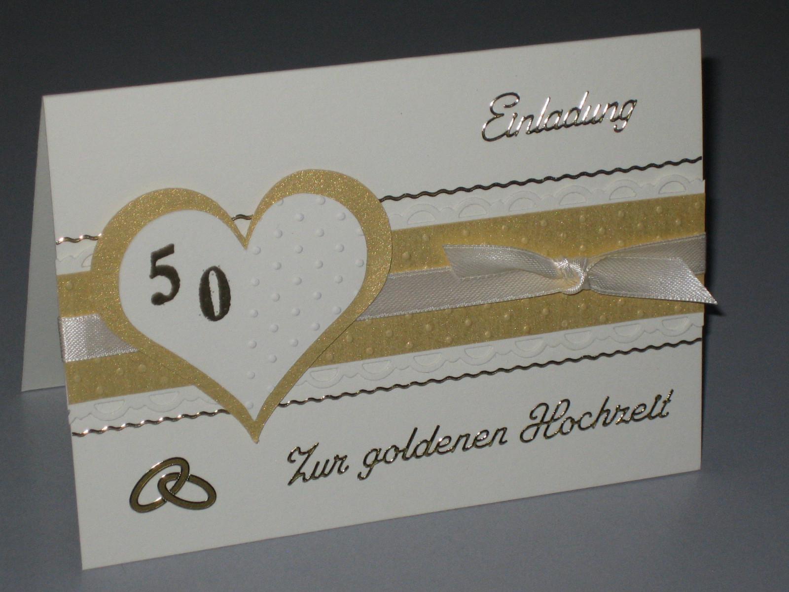 Einladungskarten Goldene Hochzeit Kostenlos Ausdrucken  Einladungskarten Goldene Hochzeit Einladungskarten