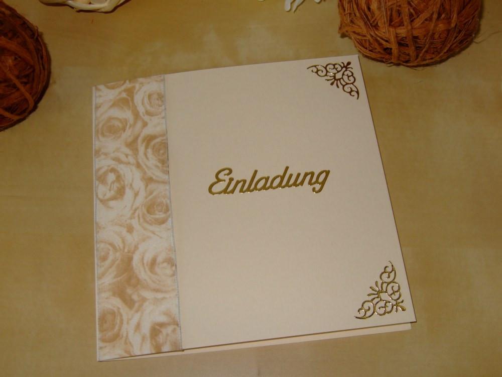 Einladungskarten Zur Goldenen Hochzeit  Einladungskarten zur Hochzeit Geburtstag goldene